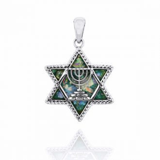 Davidstjerne menorah smykke