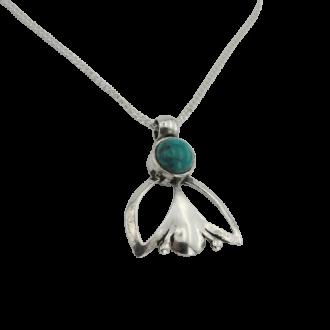 Unika halskæde med grøn Eilat sten